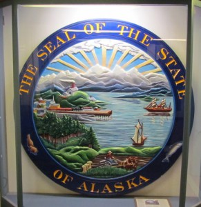 Alaska State Seal, on the ferry